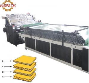 China Cold Flute Laminator Machine Glue Paper Board 360mm * 360mm Min Laminator Size on sale