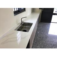 China High Brightness Quartz Kitchen Floor Tiles Chemical Resistant Easy To Clean on sale