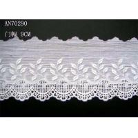 China Cotton Lingerie Lace Fabric / Embroidery Lace Fabric For Garment on sale