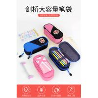 Students Use Layered Canvas Zipper Pencil Bag With ODM / OEM Services Manufactures