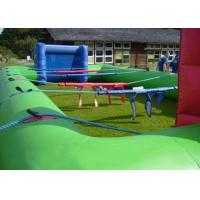 Human Table Football Team Game , Green Inflatable Interactive Games 40x20Ft Manufactures