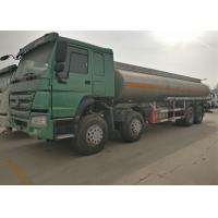 Four Axles Fuel Tanker Truck SINOTRUK HOWO 30 - 40 Tons For Oil Transportation Manufactures