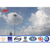 50m painting high mast pole sports center lighting with lifting system Manufactures