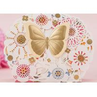 Butterfly Custom Colored Kraft Paper Candy Boxes For Party Candy Packing Manufactures