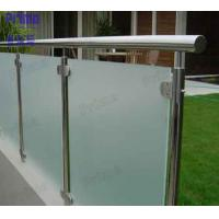 Terrace Frosted Glass Panel Stainless Steel Post Balcony Fence Manufactures