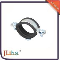 China Wall Mount Cast Iron Pipe Clamps One Side Open One Side Closed 4 Point Welding on sale