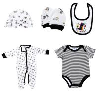 Buy cheap New Born Baby Boy Clothing Sets 100% Cotton Infants Bodysuits 5 Pcs Set from wholesalers