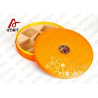 Large Round Storage Boxes With Lids , Two Pieces Flat Pack Cardboard Gift Boxes Manufactures