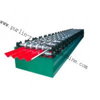 PLC Hydraulic Ridge Cap Roll Forming Machine , Automatic Galvanized Metal Rolling Form Line Manufactures