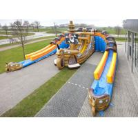 Custom Adults or Kids Giant Pirate Ship Inflatable Dry Slide Manufactures