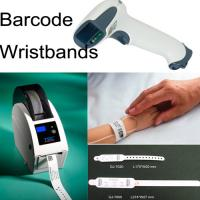 China GJ-7000 Thermal Film PVC Barcode Printed Patient ID Wristbands for Adult and Child on sale