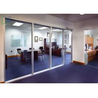 110 Series Aluminium Office Partition Easy Assembly With Clear / Frosted Glass Manufactures