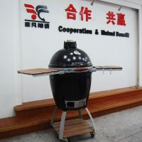 Environmentally 535mm * 760mm Oval Ceramic Big Green Egg Oven, Charcoal bbq Grills Manufactures