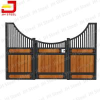 China OEM ODM Modular Horse Stall Kits , Equine Stall Fronts Bamboo / Pine Wood on sale