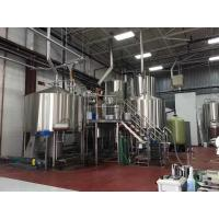 Four Vessel Craft Beer Brewing Equipment Stainless Steel Steam Heating Manufactures