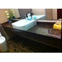 Baltic Brown Prefabricated Granite Countertops , Marble Bath Countertops