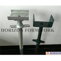 Zinc - Plated Scaffold Leveling Screw Jacks 150x150x5mm Base Plate OEM Available Manufactures