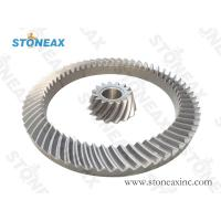 Buy cheap Block Cone Crusher Gear And Pinion Set Helical Gear Tooth Profile Left Hand from wholesalers