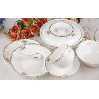 China 46pcs bone china dinnerware on sale