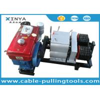 Double Drum Hoist Winch 5 Ton with Diesel Engine for tower erection Manufactures