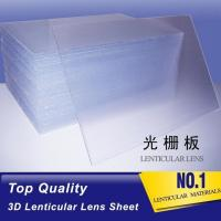 OK3D lens factory sell PET 70 lpi 0.9mm lenticular sheet for 3d lenticular printing products by injekt and UV offset Manufactures