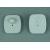 Mini Square Plastic Rf Eas Hard Tag For Hats / Footwear , Fire Retardant Manufactures