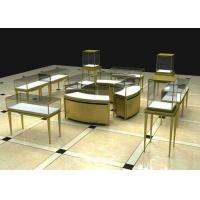 Modern Luxury Stain Steel Jewelry Display Cases Rectangle Square Shape Manufactures