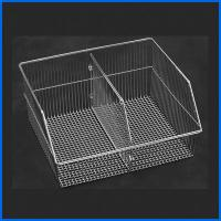 Quality Slatwall Accessories Wall Mounted Metal Basket For Grocery Store for sale