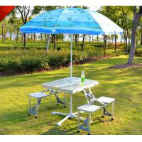 Trail Aluminium Portable Foldable Picnic Table For BBQ With MDF board Manufactures