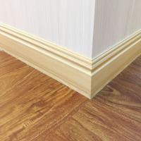 120mm Cheap Decorative Waterproof Commercial Wood color PVC Skirting Boards Floor Edges Coloured Skirting Boards Manufactures