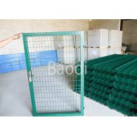 Green PVC Welded Wire Mesh Fence With Gates Easily Installation 0.4 - 2.5m Height Manufactures