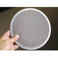 Round Stainless Steel Wire Mesh Filter Disc 3 10 15 6 Micron 90% Filter Rating Manufactures