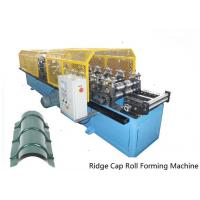Full Automatic Control 14 Stations Ridge Cap Roll Forming Machine For the Top of Warehouse of Separating Rainwater Manufactures