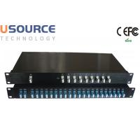 LC Connector 100G 200G DWDM Mux Demux with Monitor and Upgrade Port Manufactures