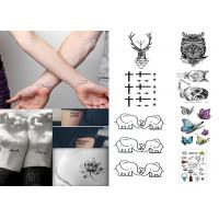 China Custom long lasting removable waterproof  temporary tattoo sticker for body on sale