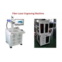 Electronic Bar Code Fiber Laser Engraving Machine with 0 - 0.5mm Marking Depth Manufactures