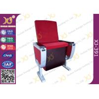 Aluminum Alloy Leg Cinema Theater Auditorium Chairs With Full Size Dual Folding Dining Table Manufactures