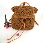 Straw Backpack straw shoulder bag 80327 Manufactures
