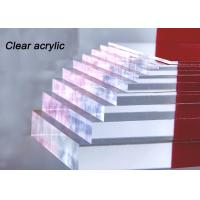 Indoor / Outdoor Clear Acrylic Sheet 80% - 90% Light Transparency For Engraving Letters Manufactures