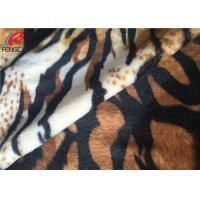 Plain Dyed Polyester Velvet Fabric With Animal Design Printed For Upholstery Manufactures