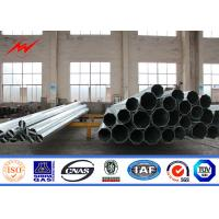 China 14m 8KN Steel Electric Utility Pole For 115KV Distribution Line Project on sale