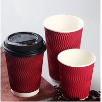 Tea / Water White Paper Cups Anti Moisture Penetration Gloss Surface Finish Manufactures