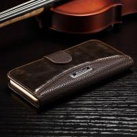 Anti - Dirt Iphone 6 Leather Wallet Case , Colorful Crazy Horse Leather Wallet Case Manufactures