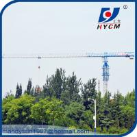 16 ton Hammer Head Topkit Tower Crane QTZ7030 With 2*2*3m Split Mast Section Manufactures