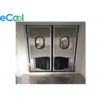 China SGS Stainless Steel PU Panel JP Free Style Anti Collision Door For Cold Storage on sale