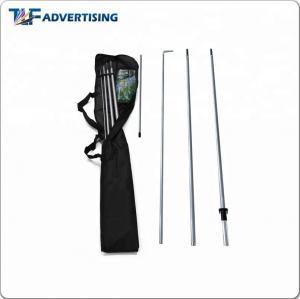 China Top Quality Fiberglass Teardrop Flexible Telescopic Feather Beach Flag Pole on sale