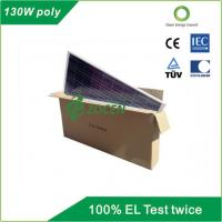 130 W 18V Poly Solar Panel Safety IEC61250 / IEC61730 Certified Manufactures