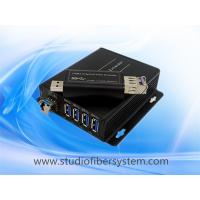 4Port compact USB3.0 over dual or single fiber extender to 250M for USB printer  USB camera and USB Mouse and keyboard Manufactures