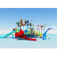 China Supermarket Outdoor Water Park / Children'S Water Slide Fiberglass Material on sale