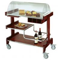 China Deluxe Pastry Cart Solid Wood Dessert Service Equipments 910*510*1120mm on sale